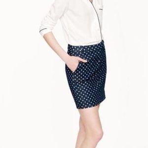 J. Crew Skirts - J. Crew Postcard Mini Skirt Indigo Dot Denim Sz 0